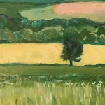 Eleanor Woolley | Fields of Linseed near Chipping Norton | Impressionistic | Landscape | Section 3