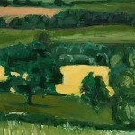 Eleanor Woolley | Fields of Linseed near Chipping Norton | Impressionistic | Landscape | Section 4
