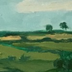 Eleanor Woolley | Fields of Linseed near Chipping Norton | Impressionistic | Landscape | Section 5