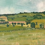 Eleanor Woolley | Looking over to Maugersbury Hill | Impressionistic | Landscape