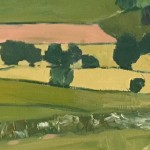 Eleanor Woolley   Looking over to Maugersbury Hill   Impressionistic   Landscape   Section3