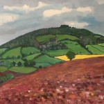 Eleanor Woolley | May Hill with ploughed fields | Impressionistic | Landscape