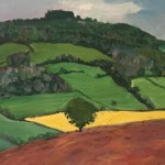 Eleanor Woolley | May Hill with ploughed fields | Impressionistic | Landscape | section