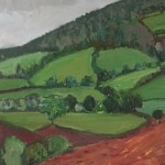 Eleanor Woolley | May Hill with ploughed fields | Impressionistic | Landscape | section 2