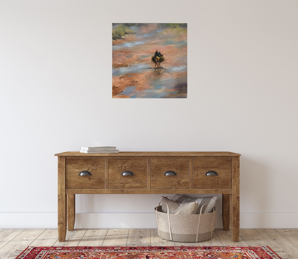 Buy art by Trevor Waugh for sale online. This Moroccan painting is a great example of Trevor Waugh's work.