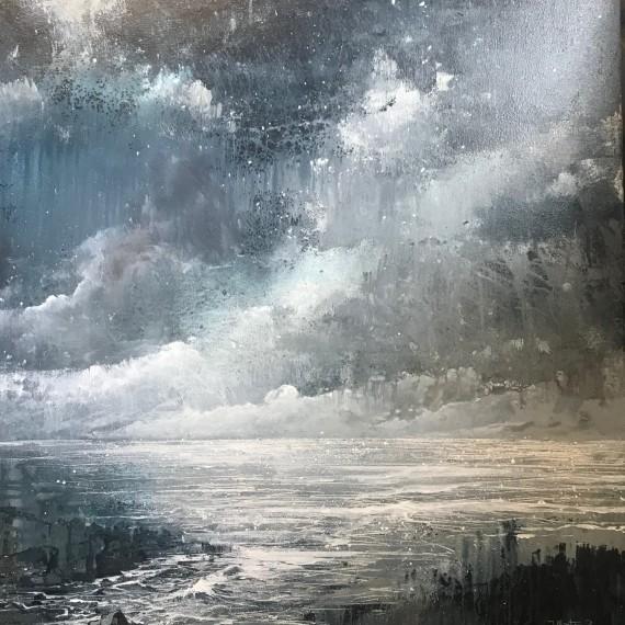 James Bonstow art for sale | seascape painting for sale by James Bonstow | monotone painting