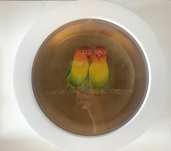 Buy art by Sally Ann Johns Love Birds