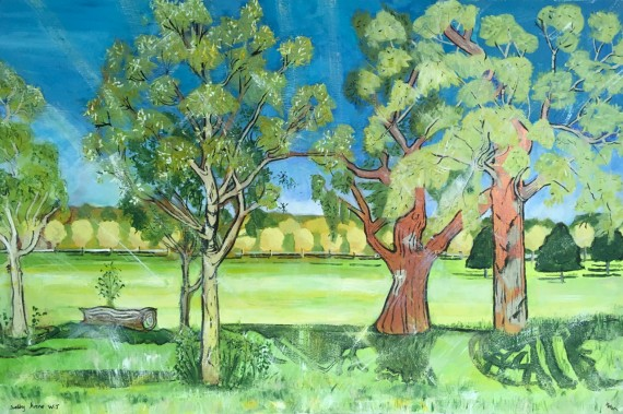 Contemporary landscape painting for sale