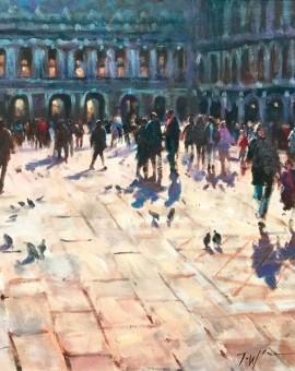 St Mark's Square Venice original art for sale