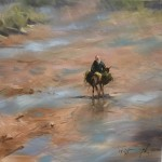 Trevor Waugh | River Bed in Morocco | Original Oil Painting | Desert Art | Contemporary Oil Art | Global Art | British Artists