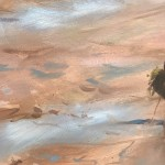 Trevor Waugh | River Bed in Morocco | Original Oil Painting | Desert Art | Contemporary Oil Art | Global Art | British Artists | Close Up