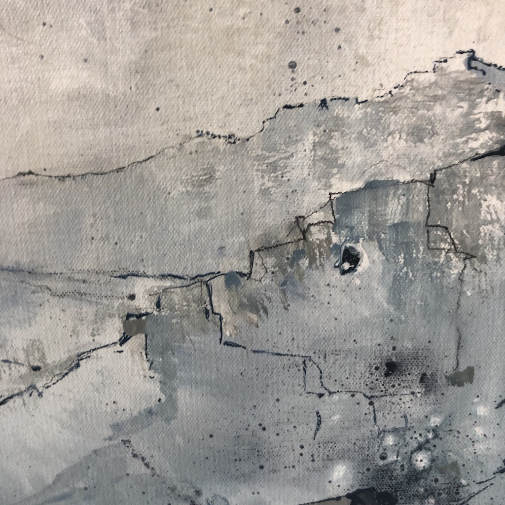 James Bonstow's Calmer Skies is and Original Contemporary Painting. Its blue tones and wide range of textures bring the piece to life.