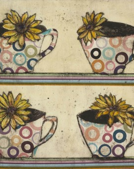 Vicky oldfield, Cups in a row , Wychwood Art