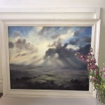 A Wiltshire Sky | Trevor Waugh | Art of Wiltshire | Original Oil Landscape Painting | Contemporary Artist | Affordable Art | Buy Art Online at Wychwood Art |