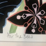 For the Bees   Kate Heiss   Limited Edition Linocut Print  Flower Art   Natural Art   Floral Interiors   Gifts for Women   Housewarming Gifts