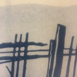 Colin Moore, The Creek, Limited Edition Linocut Print for Sale Online.  Close Up