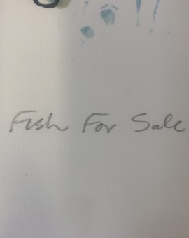 Fish for Sale, Colin Moore Limited Edition Linocut Print for Sale Online