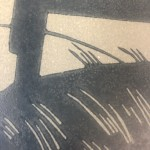 +Colin Moore, The Creek, Limited Edition Linocut Print for Sale Online.  Close Up