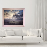 A Wiltshire Sky | Trevor Waugh | Art of Wiltshire | Original Oil Landscape Painting | Contemporary Artist | Affordable Art | Buy Art Online at Wychwood Art | Art for the Living Room