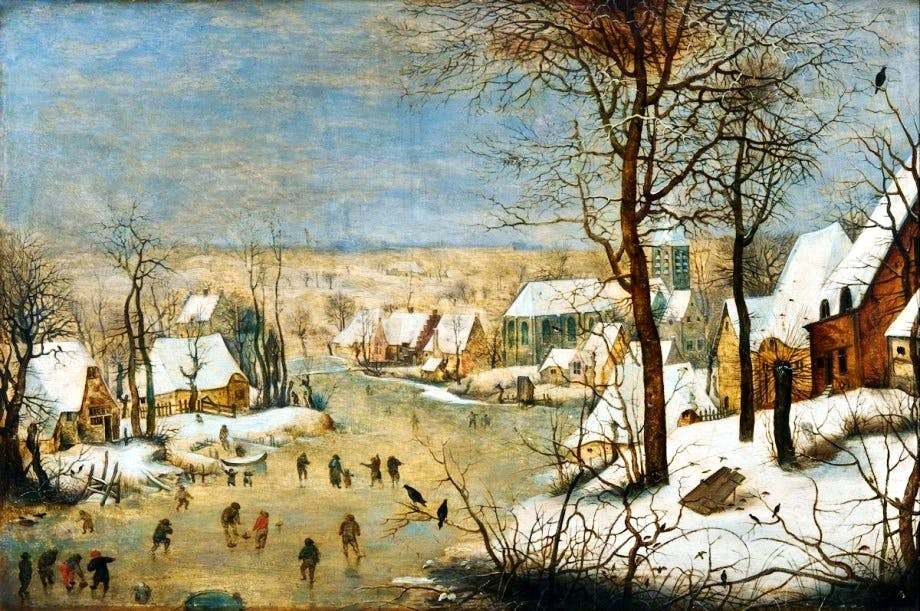 Brueghel the Younger Winter landscape