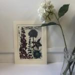 Foxgloves | Kate Heiss | Limited Edition Linocut Print  Flower Art | Natural Art | Floral Interiors | Gifts for Women | Housewarming Gifts