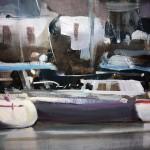 Dartmouth Harbour   Trevor Waugh   Seascape   Devon Art   Boat Art   Painting of a Harbour   Seaside Art   Original Oil Landscape Painting   Close Up 4