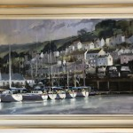 Dartmouth Harbour | Trevor Waugh | Seascape | Devon Art | Boat Art | Painting of a Harbour | Seaside Art | Original Oil Landscape Painting | Framed