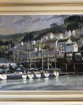Dartmouth Harbour | Trevor Waugh | Seascape | Devon Art | Boat Art | Painting of a Harbour | Seaside Art | Original Oil Landscape Painting | Framed