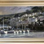 Dartmouth Harbour   Trevor Waugh   Seascape   Devon Art   Boat Art   Painting of a Harbour   Seaside Art   Original Oil Landscape Painting   Framed