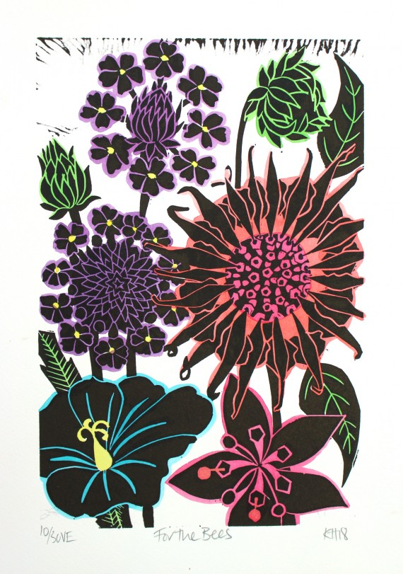 Kate heiss for the bees print for sale online, buy original art online