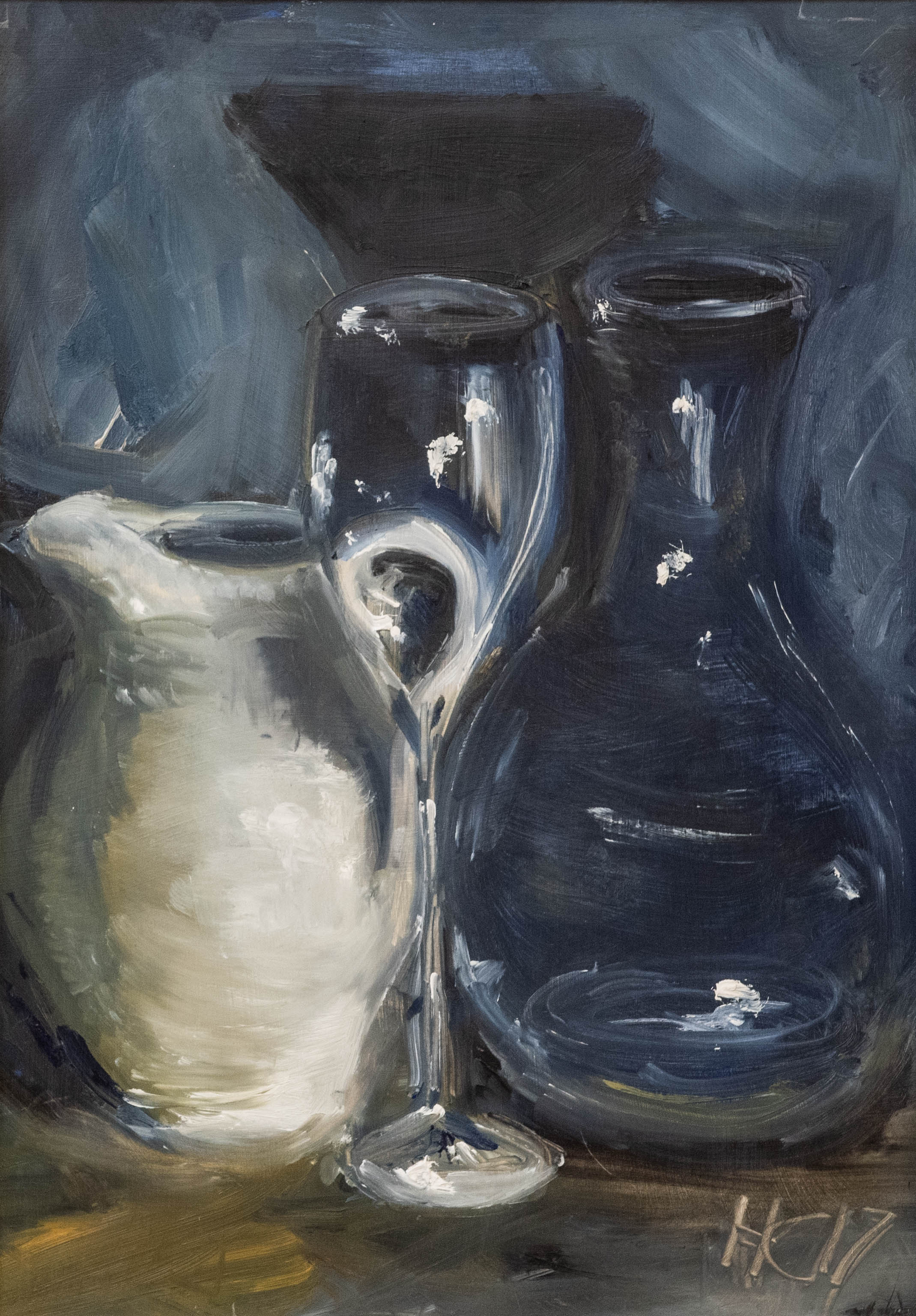 White Jug is an original oil painting by Henrietta Caledon. The impressionistic style of this painting gives it a timeless appeal.