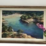 Trevor Waugh Original Oil Painting for Sale Online. Blue Core Menorca. Mediterranean scenes.