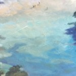 Trevor Waugh Original Oil Painting for Sale Online. Blue Core Menorca. Mediterranean scenes. Close Up