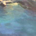 Trevor Waugh Original Oil Painting for Sale Online. Blue Core Menorca. Mediterranean scenes. Close Up 2