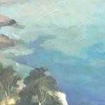 Trevor Waugh Original Oil Painting for Sale Online. Blue Core Menorca. Mediterranean scenes. Close Up 3