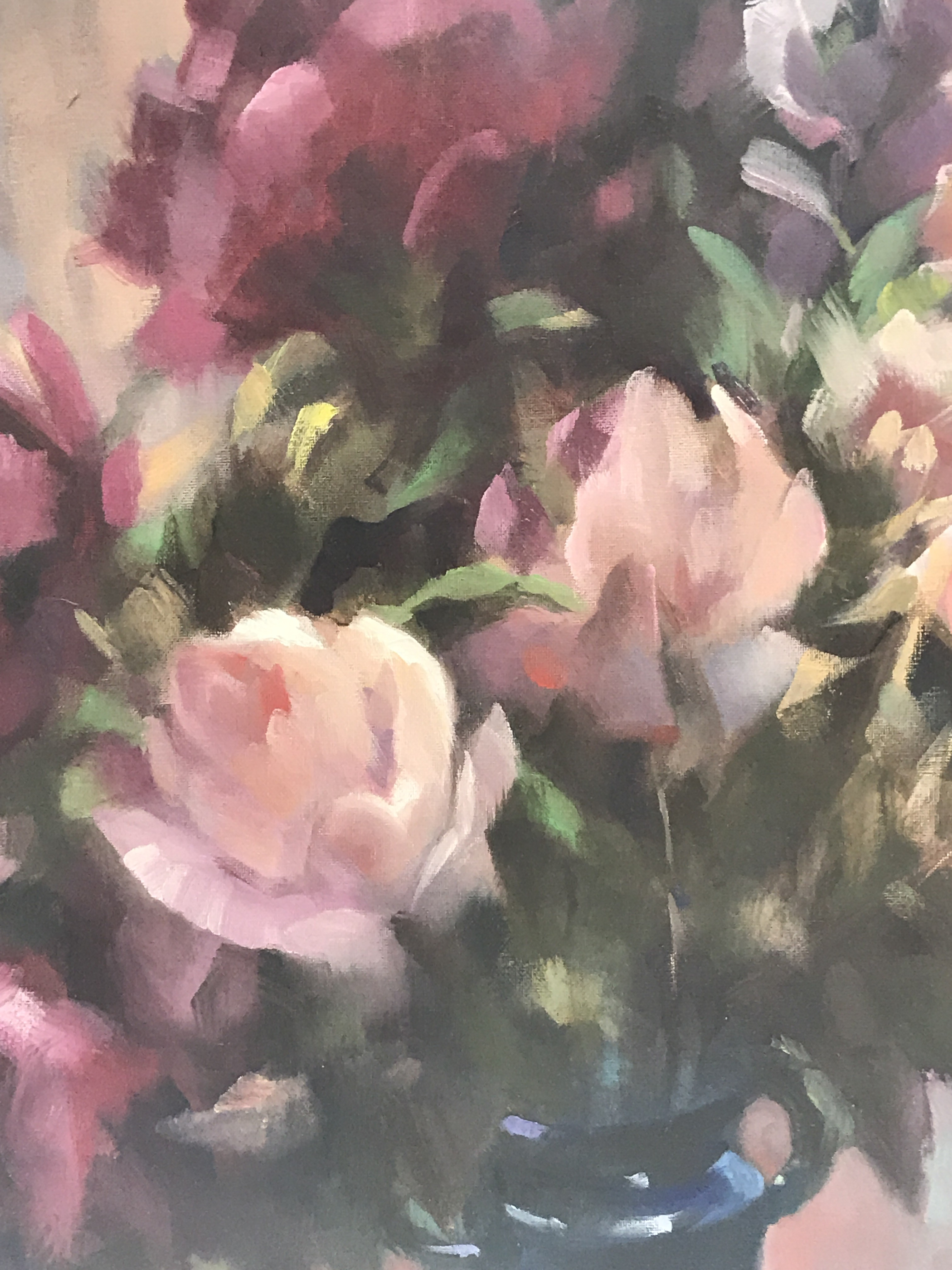 Rose Light is an original contemporary oil painting. Trevor Waugh was born in 1952 and grew up in London.