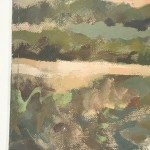 Trevor Waugh, Fanjeaux South of France, Original Oil Painting for Sale Online. South of France, Landscape Painting, Wine Region Paintings. Side Close Up
