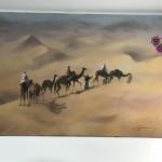 Trevor Waugh, Rhub Al Khali, Original Oil Painting for Sale Online. Figurative Desert Art. Scale Picture.