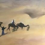 Trevor Waugh, Rhub Al Khali, Original Oil Painting for Sale Online. Figurative Desert Art. Close Up 2