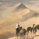 Trevor Waugh, Rhub Al Khali, Original Oil Painting for Sale Online. Figurative Desert Art. Close Up 3