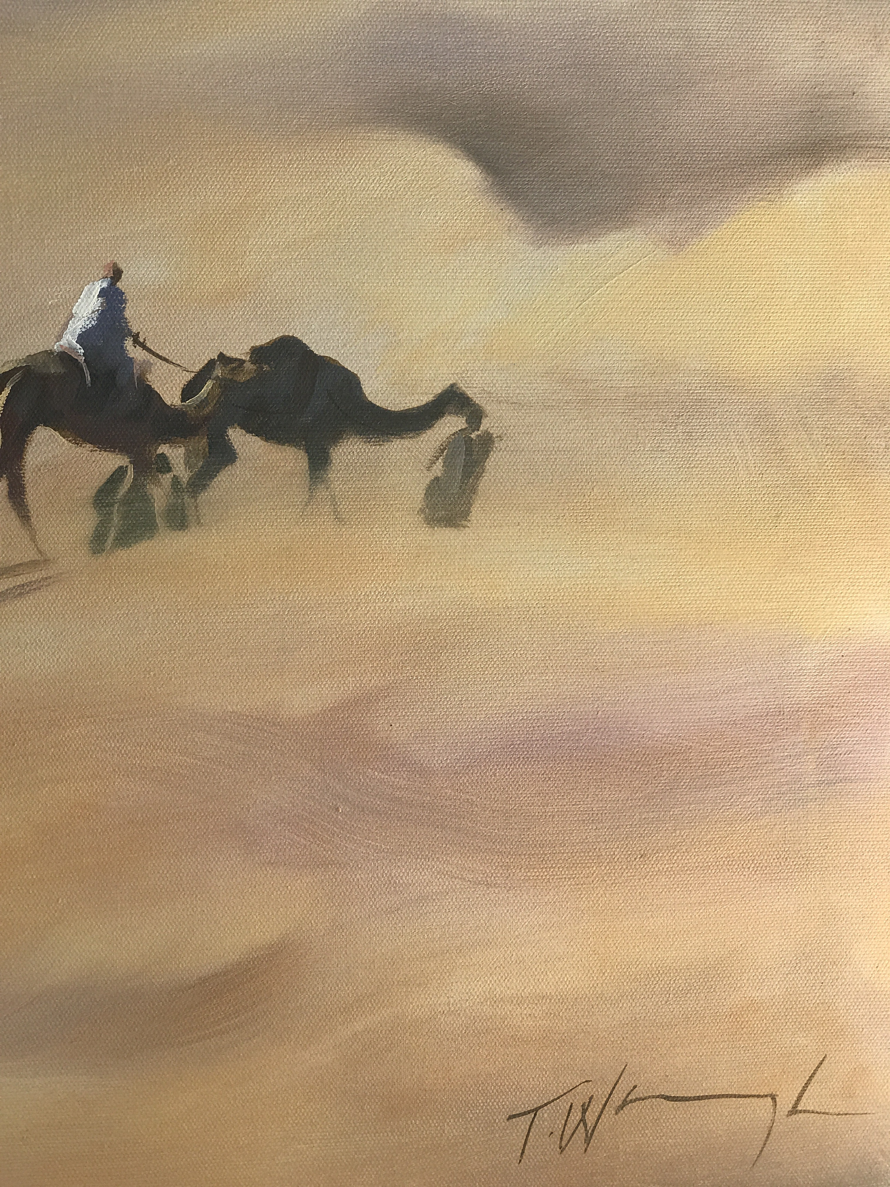 The Rhub Al Khali is an original Trevor Waugh oil painting. The brush strokes make for a rich, well textured painting.