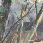 Trevor Waugh, Forest Tapestry, Original Oil Painting for Sale Online. Nature art, tree art, paintings of woods, paintings of forests, gifts for nature lovers. Close Up