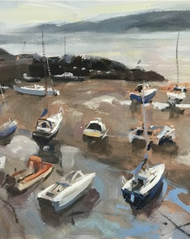St ives harbour painting for sale | Trevor Waugh