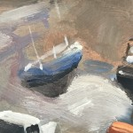 Trevor Waugh, St Ives Harbour, Original Oil Painting For Sale Online. Boating Art, Fishing Paintings, Seascape Paintings, Cornwall.  Close Up