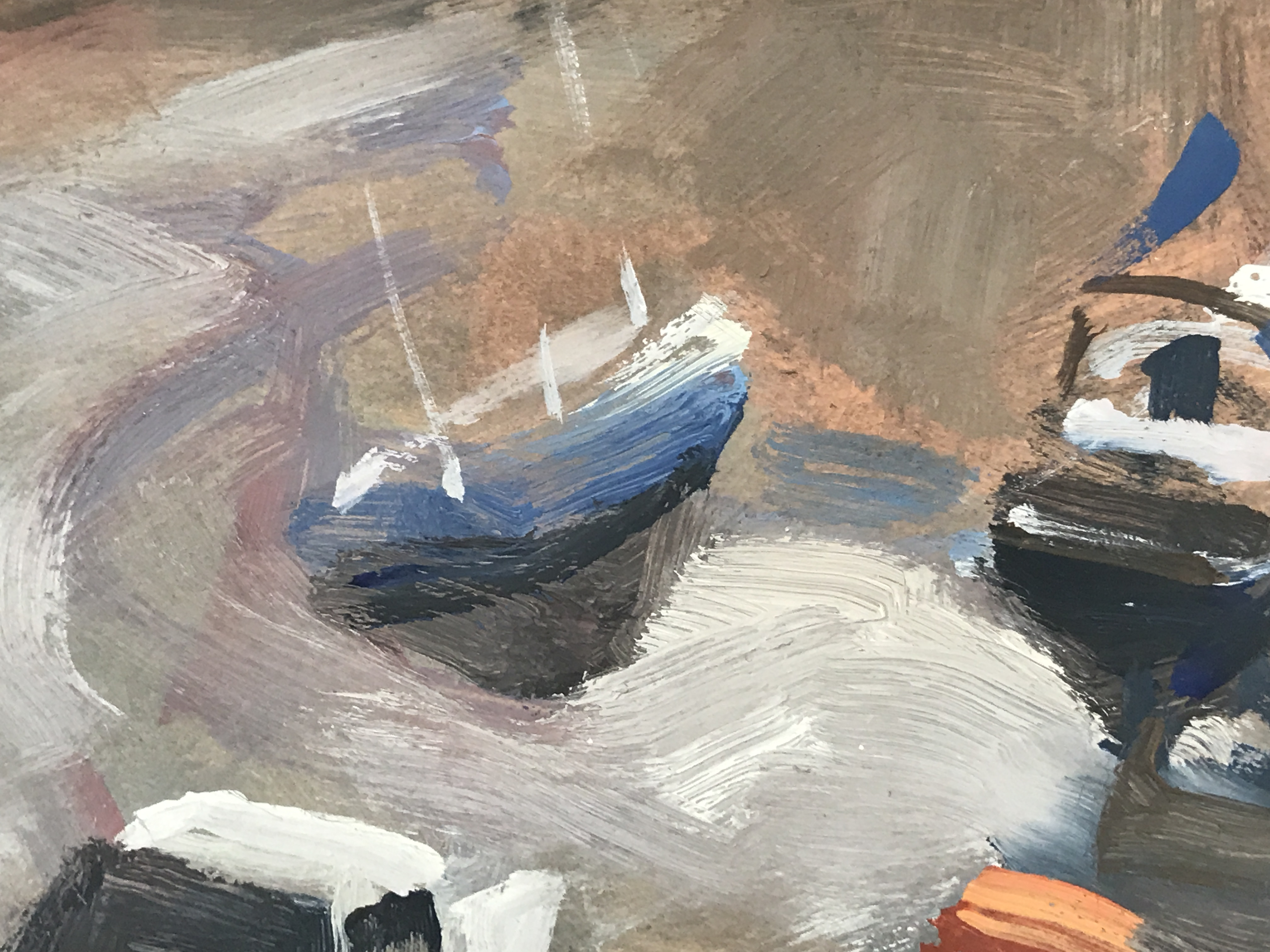 Trevor Waugh, St Ives Harbour, original oil painting. A classic multi-tonal depiction of St Ives Harbour in Cornwall