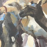 Trevor Waugh, Market in Morocco, Original Oil Painting for Sale Online. Moroccan Painting, Gifts for Travellers, desert art. Close Up