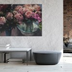 Trevor Waugh Original Oil Painting, Rose Light, Still Life Painting for Sale Online