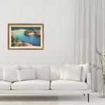 Trevor Waugh Original Oil Painting for Sale Online. Blue Core Menorca. Mediterranean scenes. In Situ