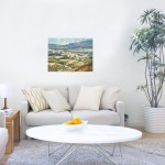 Trevor Waugh, Fanjeaux South of France, Original Oil Painting for Sale Online. South of France, Landscape Painting, Wine Region Paintings. In Situ Picture