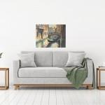 Trevor Waugh, Venetian Canal, Original Oil Painting for Sale Online. Painting of Venetian Waterways. Gondola Painting. Venetian Bridge Painting. Tourist Destinations for 2019. Destination Art. Contemporary Original Art for Sale Online. In Situ